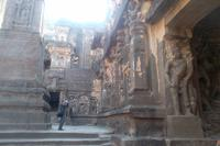 im Kailash-Tempel von Ellora