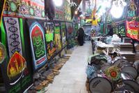 Kerman, im Basar, Ausrüstung für Ashura-Prozession