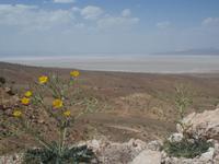 Blick auf den Bakhtegan Salzsee
