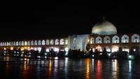 Isfahan, Imam-Platz mit Lotfollah-Moschee am Abend