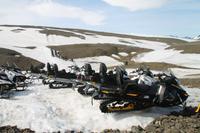 Schneemobiltour auf dem Vatnajökull Gletscher