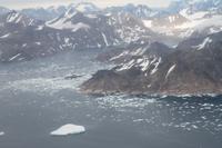 Flug nach Grönland - Blick auf das Eismeer