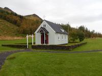 Auch eine kleine Dorfkirche steht im Skogar-Museum.