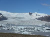 Island, Vatnajökull mit neuer Gletscherlagune