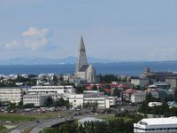 0034 Island -  Reykjavik - Blick vom Perlan zur Hallgrimskirkja