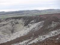 Auf dem Kraterrand