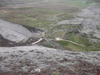Abstieg vom Krater Grabrok