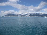 Der See jölulsarlon und die Gletscher