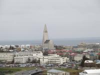 Reykjavik - Blick von der Perle auf die Hallgrimskirche