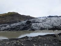 am Ausläufer des Gletschers Solheimajökull