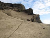 Strand mit Basaltsäulen
