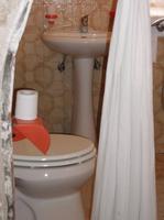 Die Toilette in einem Trullihaus