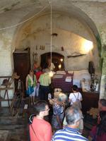 in einer ehemaligen Behausung in Matera