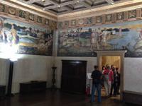 Fresken in den Räumen des Rathauses