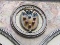 Wappen der Medici im Innenhof des Palazzo Vecchio