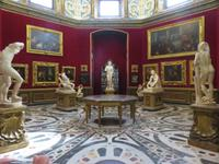 In den Uffizien von Florenz