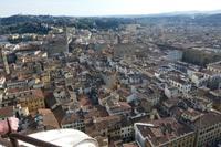 Blick auf Florenz von Domkuppel aus