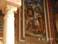 Dekoration im Bogengang des Normannenpalastes