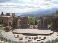 Im Amphitheater von Taormina