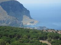 Blick über die Küste von Palermo