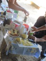 Guiseppe und seine Freundin zauberten uns ein köstlichen Imbiss