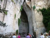 Syrakus, Latomia del Paradiso, Ohr des Dionysios, Eingang