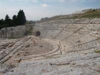 eines der schönsten Theater der Antike: griech. Theater in Syrakus