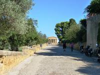 02.10.2013 Straße der Tempel in Agrigent