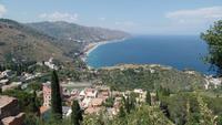 Taormina- Blick nach Letojanni