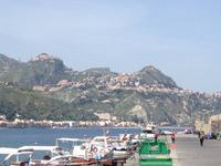 Der Blick nach Taormina