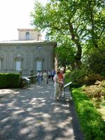 Garten Villa Lante in Bagnaia, Blick zum linken Casino von Kardinal Montalto