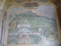 Garten Villa Lante in Bagnaia, Frsko im Casino von der Anlage (vermutlich von Vignola)