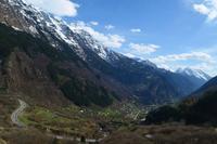 0020 Schweiz, durch den Kanton Tessin, südlich des San-Bernadino-Tunnels, Blick nach Soazza