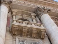 Der Balkon, von dem der Pabst zu Ostern den Segen ausspricht