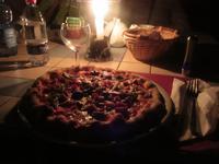 Abendessen im Observatorium von Stromboli