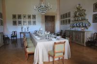 An diesem Tisch in der Villa Pisani speisten schon Napoleon, Hitler und Mussolini