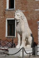 Löwen am Hauptportal Arsenal