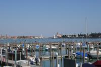 Blick auf die Friedhofsinsel und Insel Murano