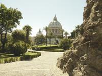26.05.2017 Blick von den Vatikanischen Gärten auf den Petersdom