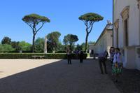 Hinter der Villa Medici