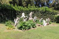 Die sterbenden Kinder der Niobe im Park der Villa Medici