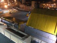 Livorno, Schließen der Heckklappen