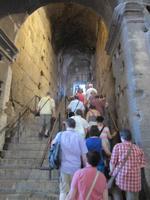 Aufstieg auf die Ränge des Colosseums