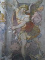 Erzengel Michael mit dem Schwert - Empfangsraum Papstgemächer Engelsburg