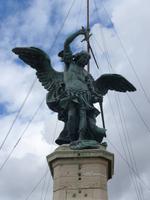 Engel auf der Spitze der Engelsburg
