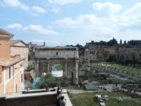 Blick vom Kapitol auf das Forum Romanum
