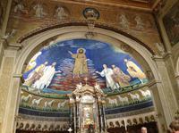 Kirche am Forum Romanum mit wunderschönem Mosaik