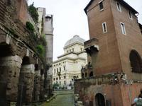 Blick auf die Synagoge  Rom 2013