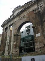 Tempel im jüdischen Stadtteil Rom 2013