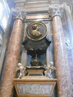 Besichtigung der Peterskirche (Denkmal für Christine von Schweden)